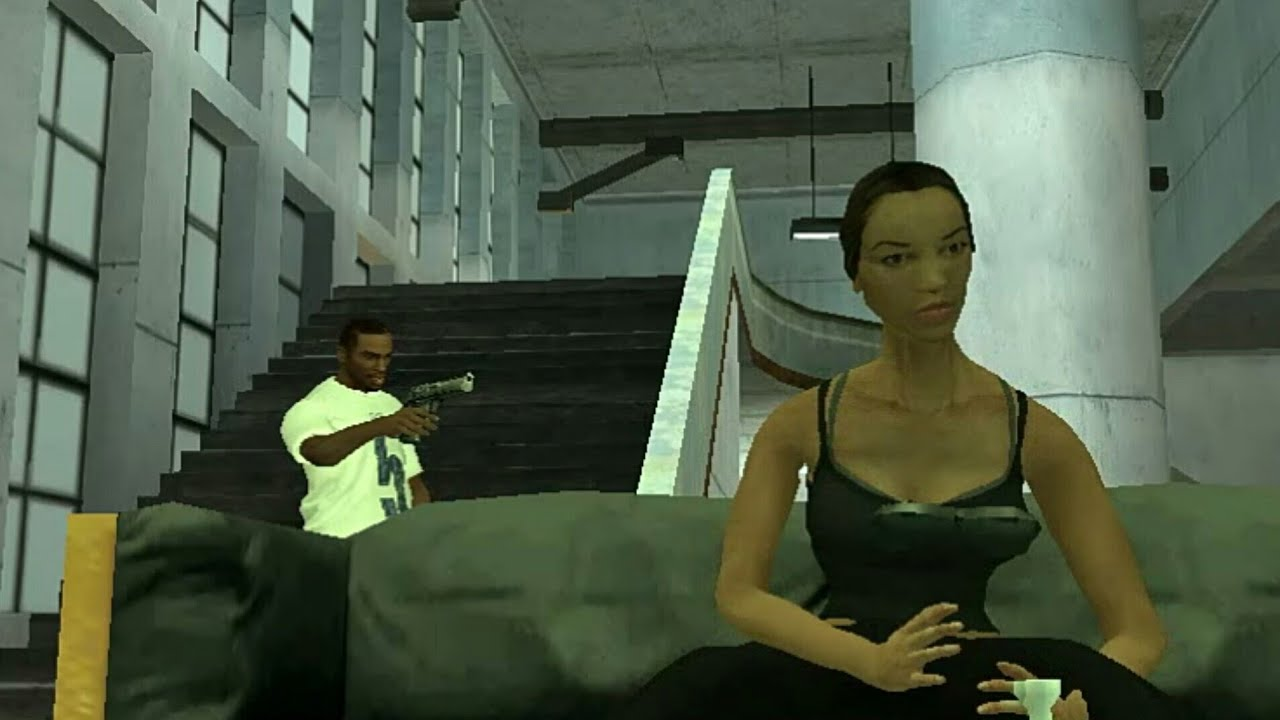 """Gta San Andreas CJ kill Catalina in mission """"end of the line"""""""