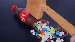 ПРИКОЛ Coca-Cola! КОКА-КОЛА С СЮРПРИЗОМ. Coca-Cola.M&M's marshmallow