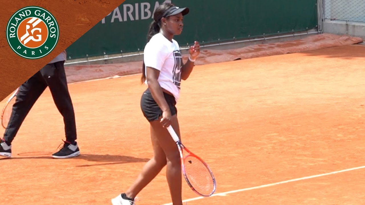 Sloane Stephens in Practice before the final - Inside RG I Roland-Garros 2018