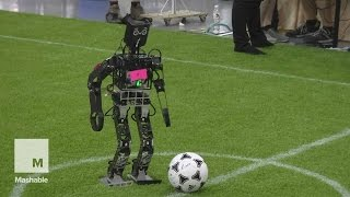 Robots playing soccer at RoboCup 2015 is like watching toddlers learn to kick | Mashable