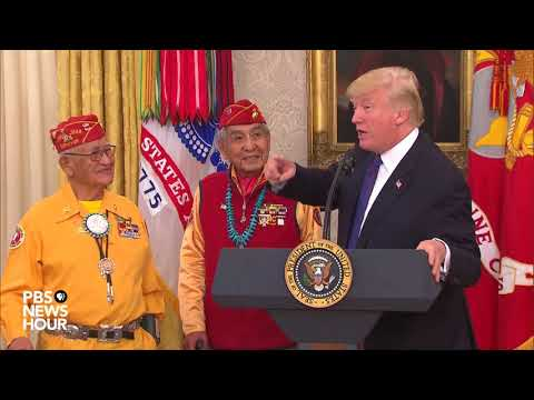 WATCH: President Trump meets World War II Navajo code talkers at White House