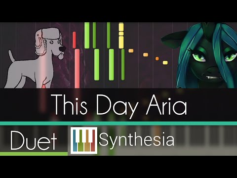 This Day Aria - |DUET PIANO TUTORIAL w/LYRICS| -- Synthesia HD