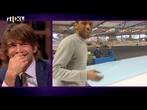 Shani Davis bedankt Mark Tuitert - RTL LATE NIGHT