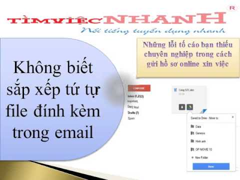 Những lỗi tố cáo bạn thiếu chuyên nghiệp trong cách gửi hồ sơ online