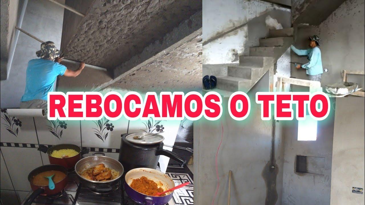 ENFIM  TA PRONTO! TETO REBOCADO+ AUMENTAMOS O NINCHO DO BANHEIRO