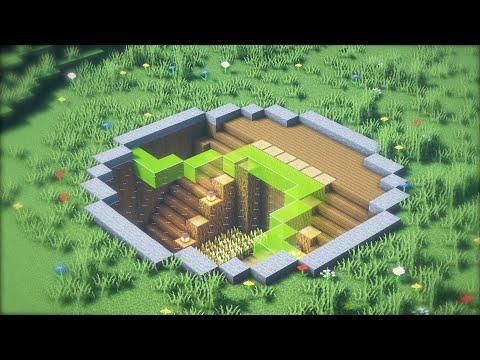 Minecraft   Xây nhà sinh tồn dưới lòng đất   Đẹp và Đơn Giản