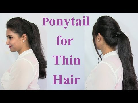 Ponytail Hairstyles for Thin Hair Tutorial