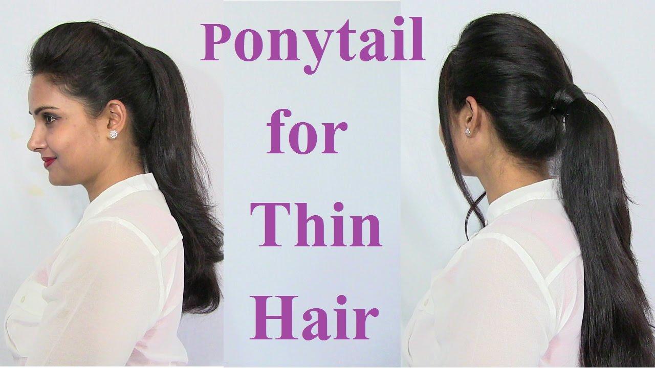 ponytail hairstyles for thin hair - voluminous ponytail hair