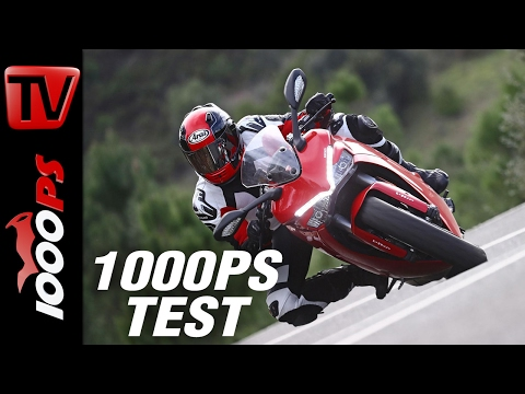 1000PS Test - Ducati Supersport S 2017 - 113 PS ausreichend? ENGL Subs