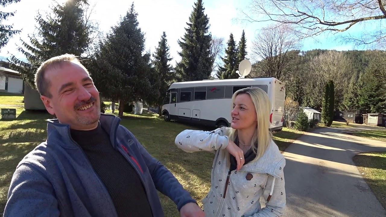 mit dem wohnmobil nach s dtirol wintercamping caravan park sexten italien anfahrt vlog1. Black Bedroom Furniture Sets. Home Design Ideas
