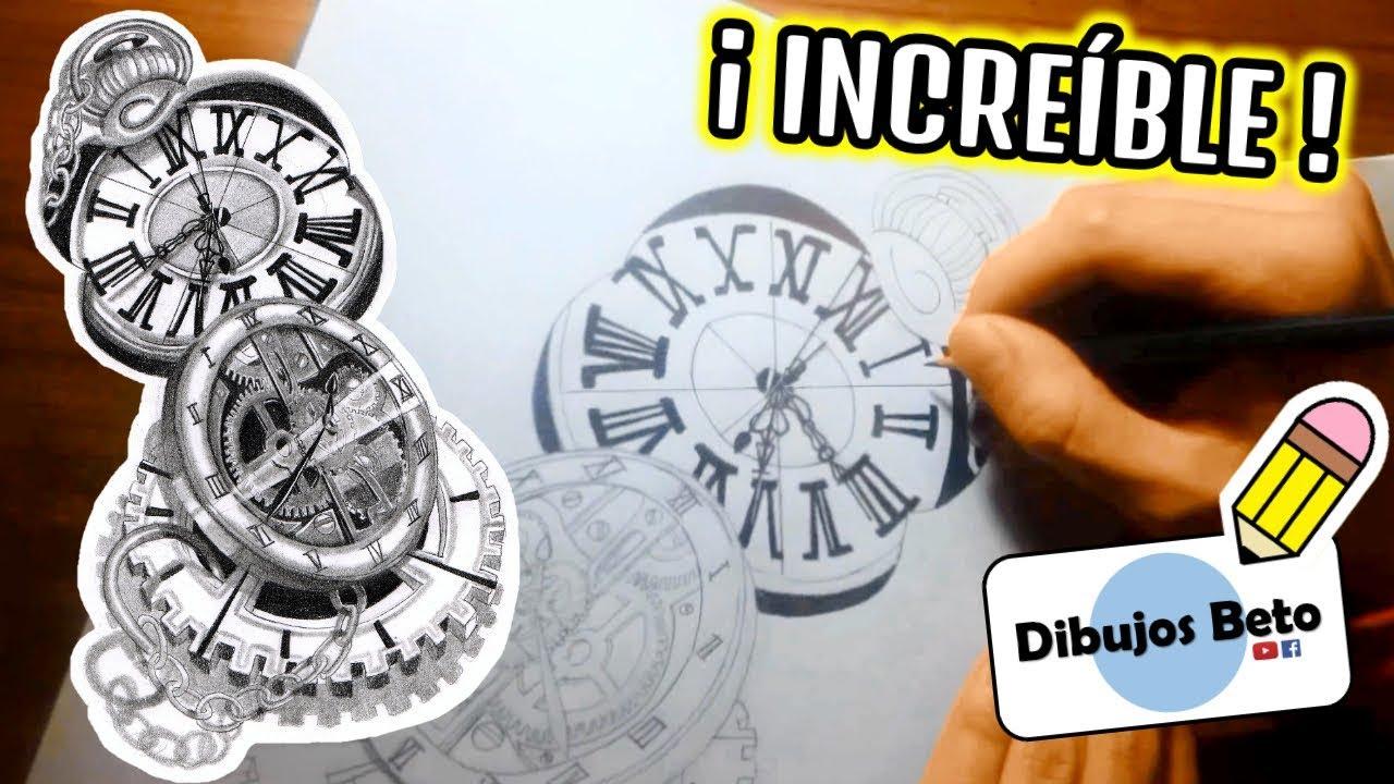 Como dibujar un reloj super dibujo original de relojes - Relojes rusticos de pared ...