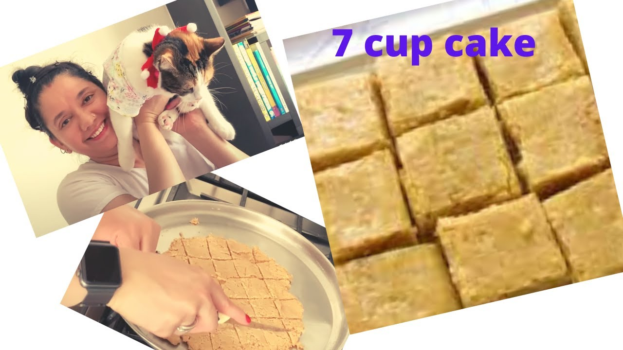 Seven cup cake recipe - 7 ಕಪ್ ಕೇಕ್ /ಬರ್ಫಿ/ ರೆಸಿಪಿ-  Canada day celebration-Kiki time-ಕನ್ನಡ in Canada