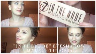 everyday eye makeup using w7 in the nude eyeshadow palette
