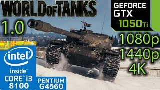 World of Tanks 1.0 - GTX 1050 ti - i3 8100 - G4560 - 1080p - 1440p - 4K - benchmark