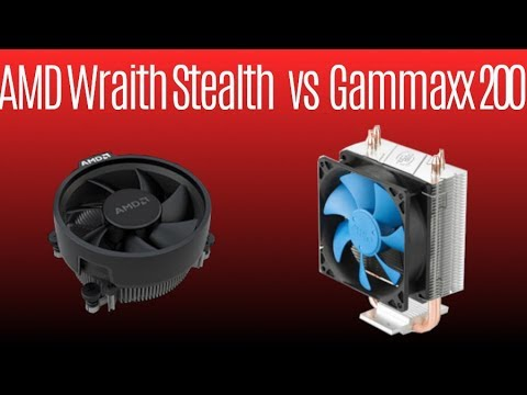 AMD Wraith Stealth vs Deepcool Gammaxx 200 ★ Ryzen Stock Cooler vs Cheap Cooler