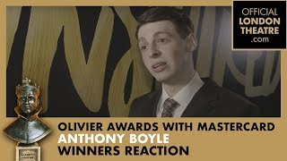 Winner Reaction: Anthony Boyle for Harry Potter And The Cursed Child