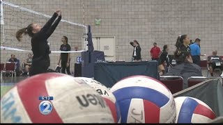Volleyball tournament unveils new sports courts at Hawaii Convention Center