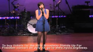 Krysta Rodriguez sings 'Ammonia' at Broadway Stands Up For Freedom 2011
