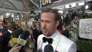 Ryan Gosling 'La La Land' Golden Globes Red Carpet Interview