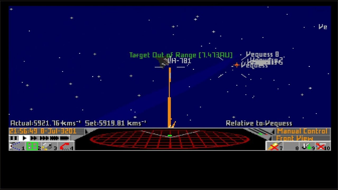 Lukozer Retro Game Review - 434 - Frontier: Elite II - Commodore Amiga