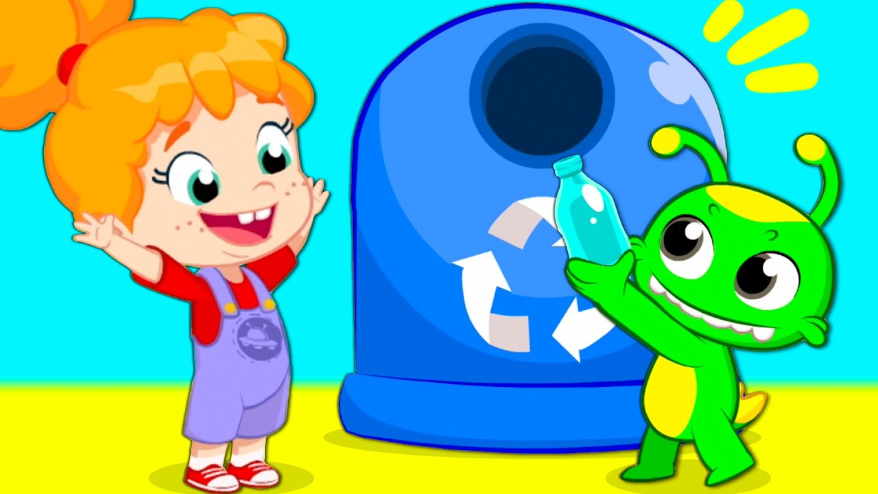 New episode   Easy recycling for children: 3 R's   Groovy The Martian educational cartoon videos  