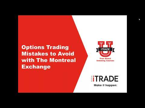 Options Trading Mistakes To Avoid with the Montreal Exchange (September 2017)