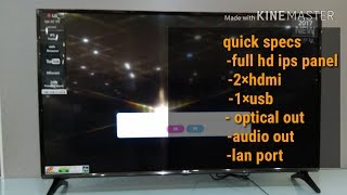 LG 49LJ554T..FEATURES REVIEW..FULL HD SMART..LSW 350 WALL MOUNT..