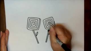 How To Draw A Rose Step By Step Cartoon Simple Flower Tutorial