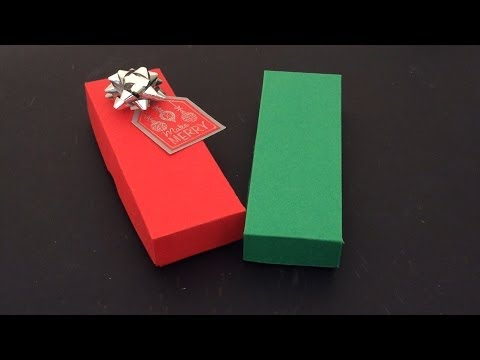 BRACELET OR JEWELRY GIFT BOX WITH LID TUTORIAL