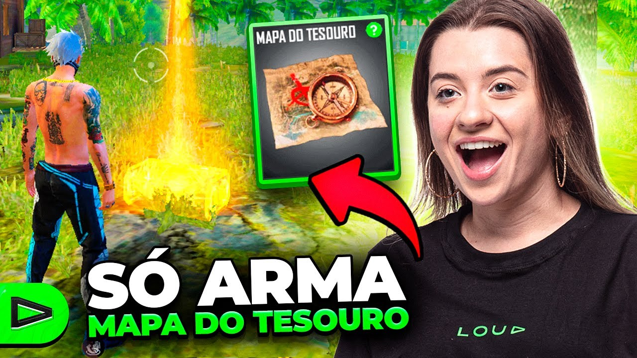 JOGAMOS SÓ COM ARMAS DO MAPA DO TESOURO NA LOUD FREE FIRE!!