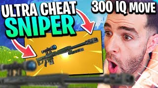 THE SNIPER LOURD IS ULTRA CHEAT - THIS TRAP To 300 IQ INCROYABLE!! Fortnite Season 5