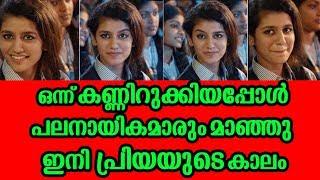 ഒന്ന് കണ്ണിറുക്കിയപ്പോൾ ഇനി പ്രിയയുടെ കാലം | Priya warrier goes viral in social media