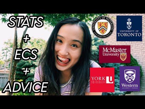 how I got into university of toronto, waterloo, mcmaster, york, and western // stats, ecs, advice