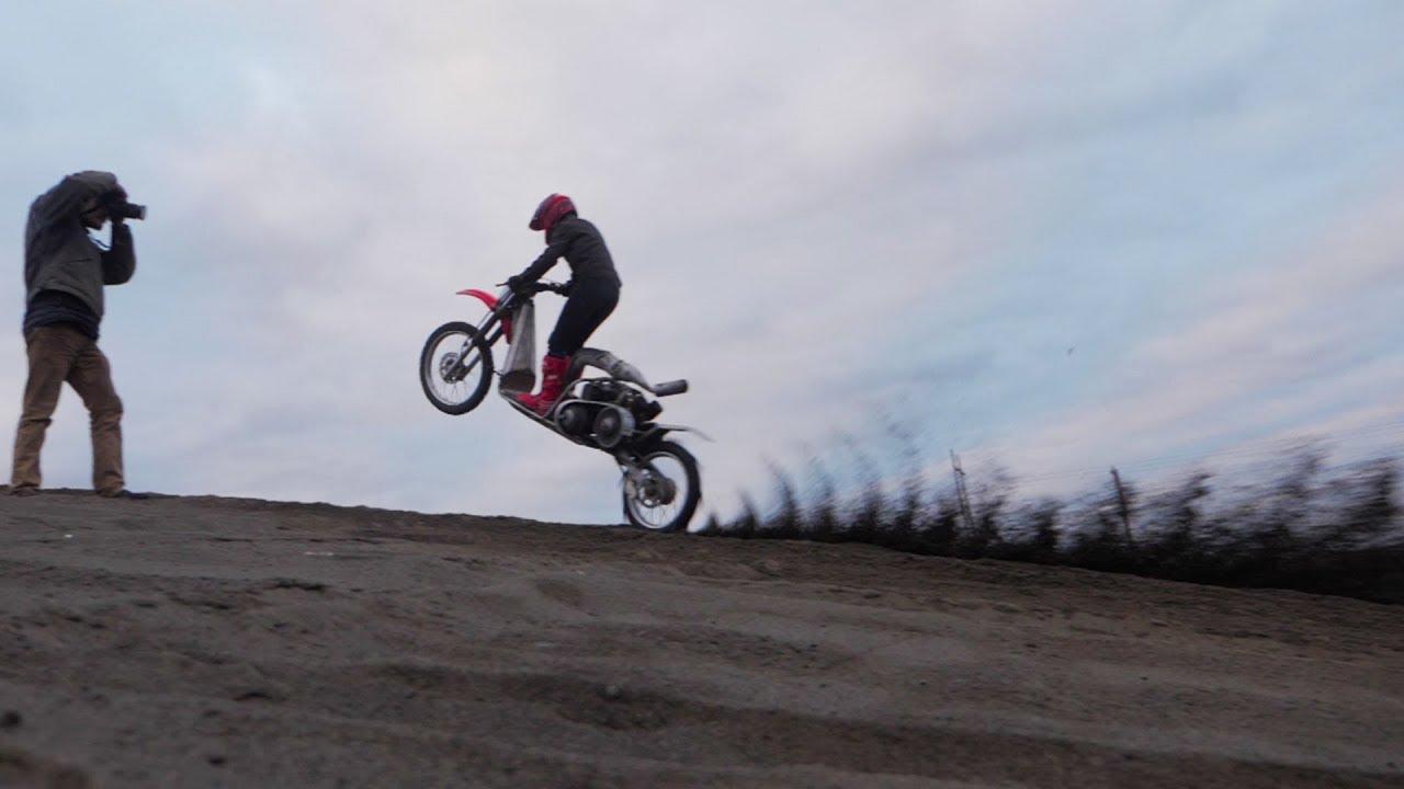 Dune Scooter Does Wheelies!