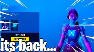 The DREAM SKIN IS BACK IN FORTNITE...