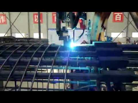 Cage welding making machine with automatic welder