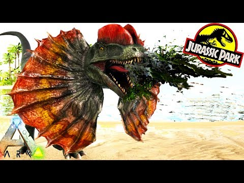 ARK NEW DILOPHOSAUR, BRACHIOSAURUS & MORE!! Ark Survival Evolved Jurassic Park Expansion Mod