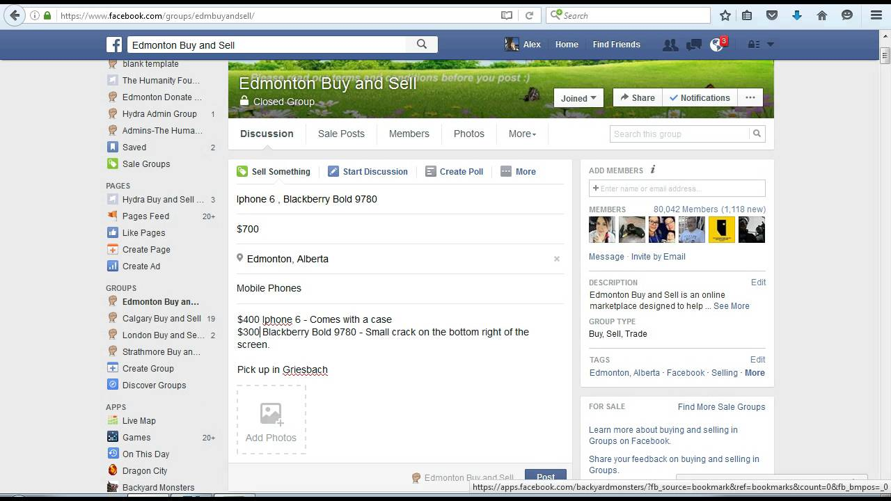 How to create an ad on a Facebook Buy and Sell Group