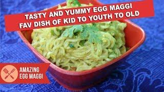 Street Style Egg Maggi Masala | bachelors food recipe| 10 min egg magg