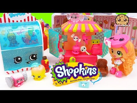 Shopkins Season 4 12 Pack Unboxing With 2 Surprise Blind Bags At Candy Shop - Toy Video