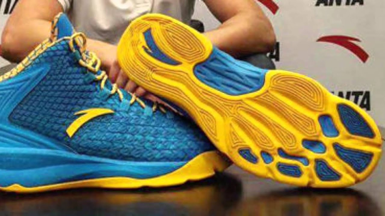 fa33c5ff91a Klay Thompson looks underwhelmed by his first signature Shoe from Anta.
