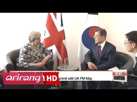 President Moon holds summits with leaders of Czech Rep., UK, and Senegal