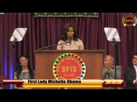 Michelle Obama delivers graduation speech to Santa Fe Indian School