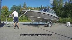 Veneen lasku venepukeille