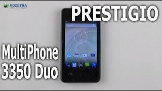 Розпакування Prestigio MultiPhone 3350 Duo Black
