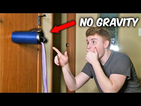 NO GRAVITY WATER BOTTLE FLIPS! ( Unspillable Cup Trick Shots )