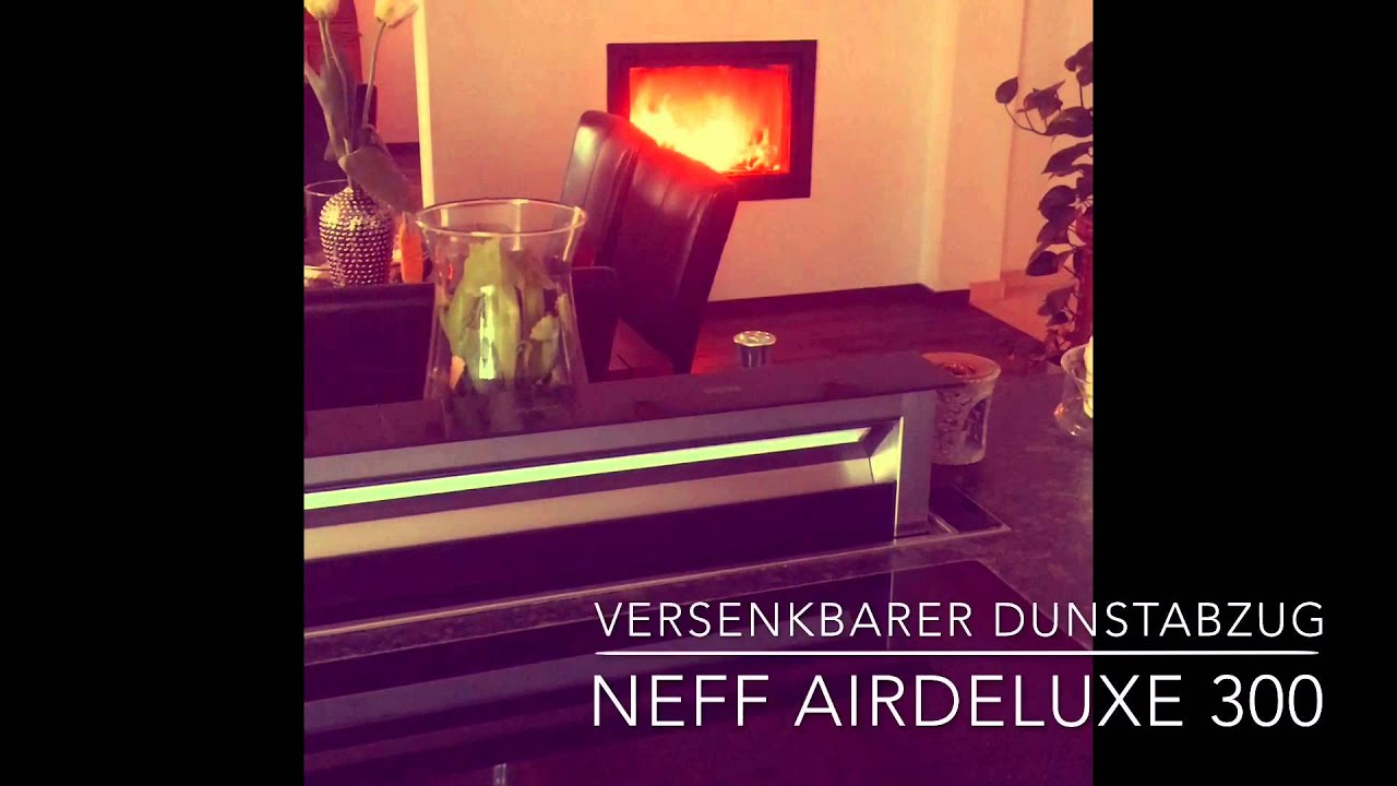 dunstabzug versenkbar airdeluxe 300 neff youtube. Black Bedroom Furniture Sets. Home Design Ideas
