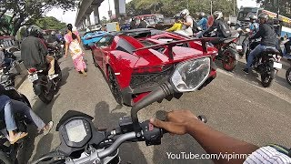 CHASING 14 LAMBORGHINIS In INDIA - REACTIONS & More..