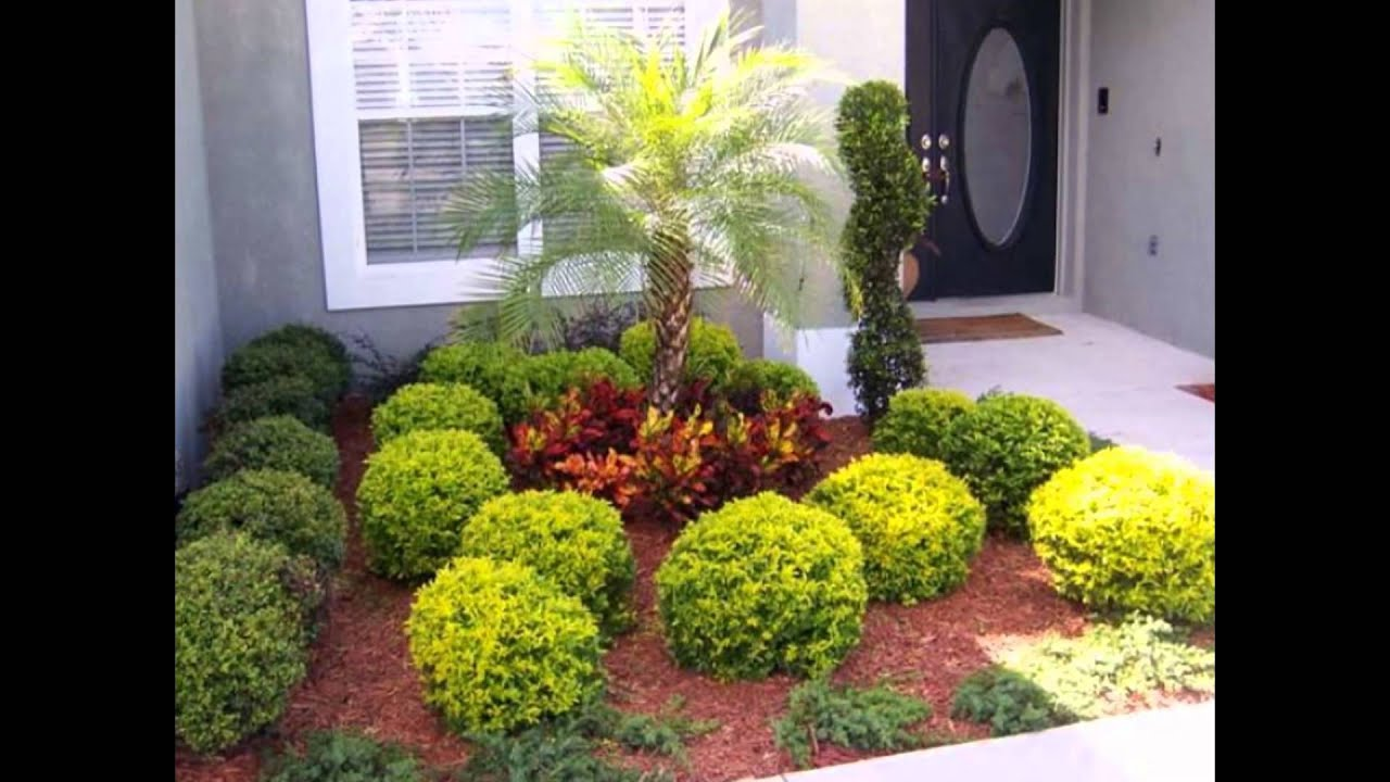 Landscape Design Ideas For Front Yard landscape sloped lawn landscape design ideas for Wonderful Landscape Design Ideas Florida With Tropical Front Yard Pictures