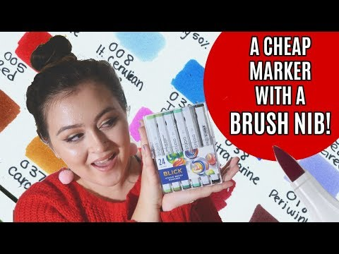 BLICK Studio BRUSH Marker Review | Copic Alternative w/ a Brush Nib